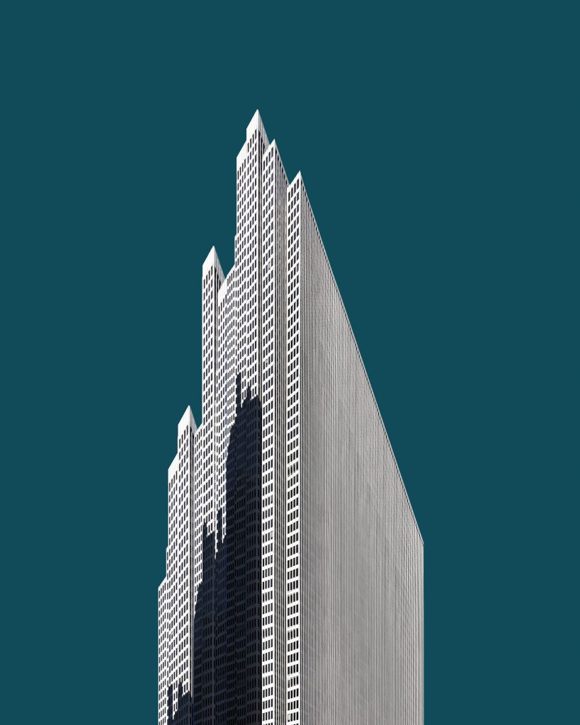 '1040 • Monolith' - 2018  Implied scale and decontextualization give the imagined city heroic dimensions, pushing the limits of what we consider impossible.