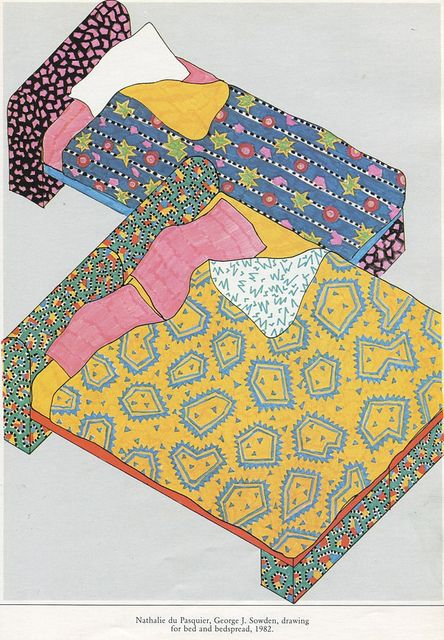Drawing for bed and bedspread
