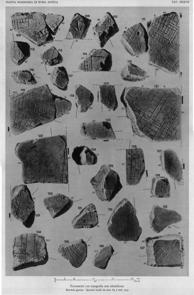 Carettoni Plates , 1960 [La pianta marmorea di Roma antica. Forma urbis Romae]