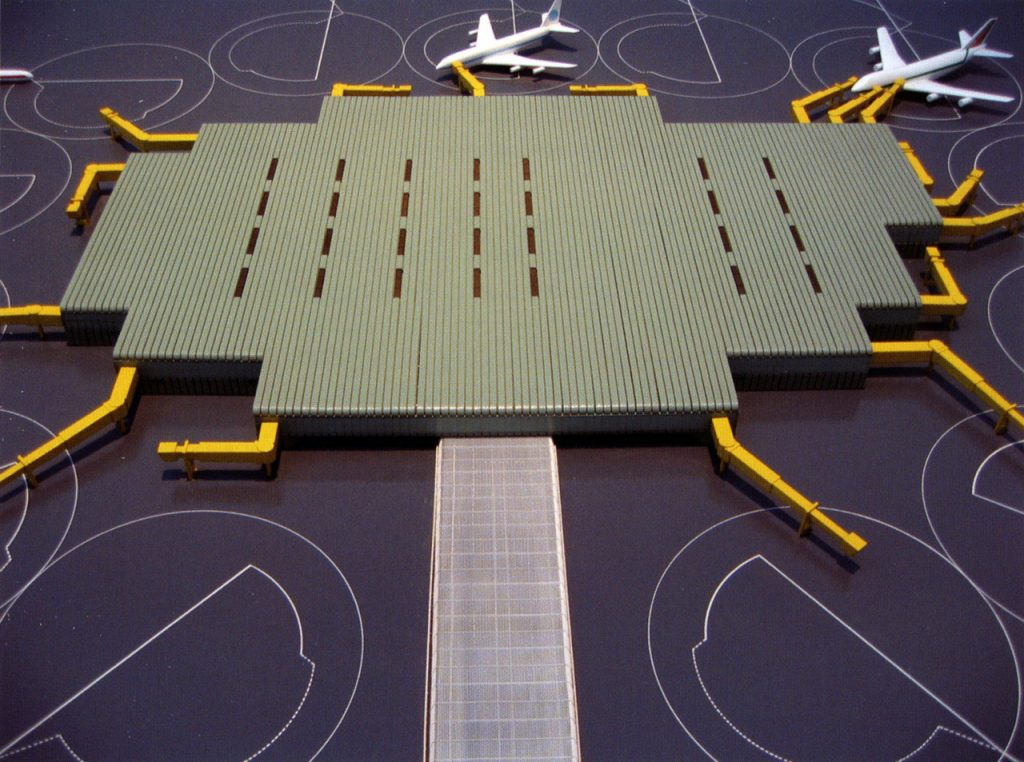 Archizoom & Superstudio, Competition for an airport, Genoa, Italy, 1970