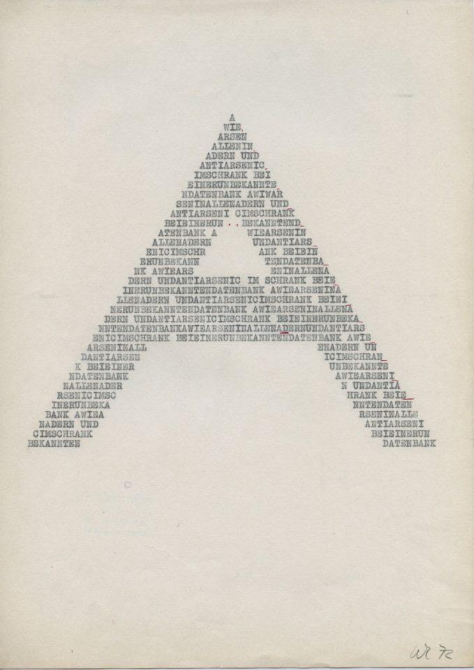 A wie Arsen, 1972