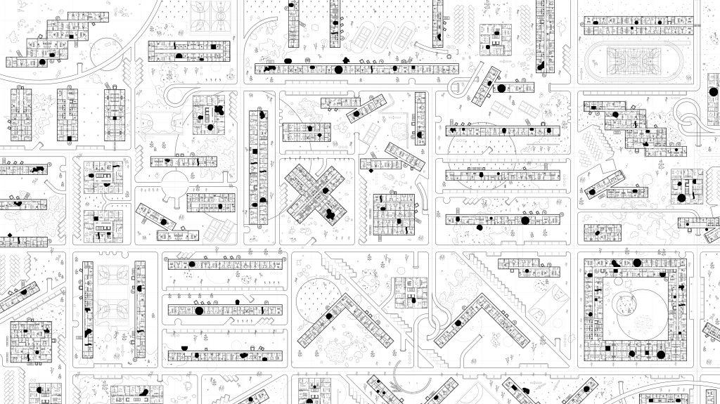Generic Site Plan of a 'Fictional Urban Development' applying the designed standards