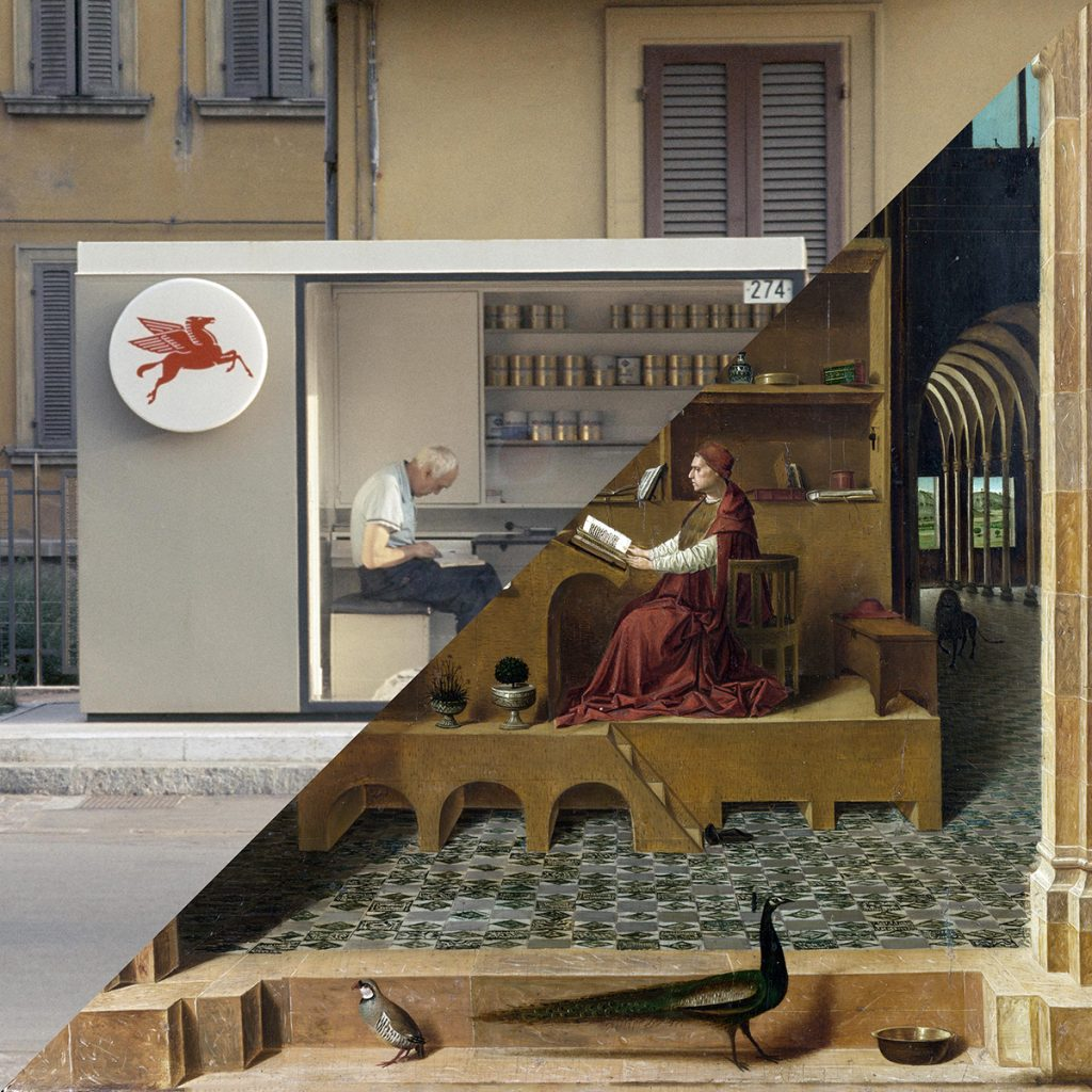 Luigi Ghirri, Modena, 1973 VS Antonello da Messina, St. Jerome in His Study, 1474-1475