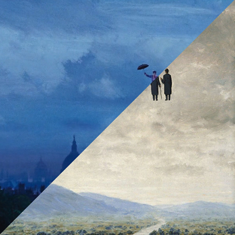 Robert Stevenson, Mary Poppins, 1964 VS René Magritte, L'art de la conversation, 1963