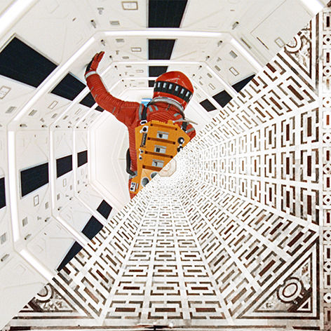 Stanley Kubrick, 2001: A space odissey, 1968 VS Baccio d'Agnolo and others, Pavement of Cattedrale di Santa Maria del Fiore, Florence, Italy, 1520–1560