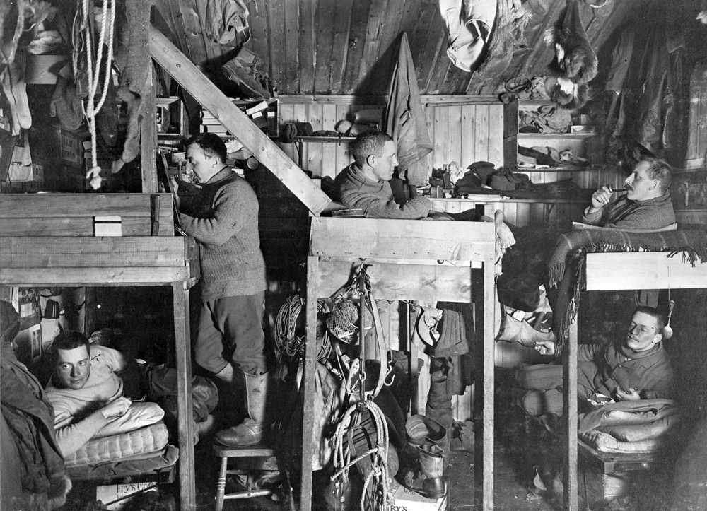 'The Tenements' space in the mess room at Cape Evans [Image courtesy of Scott Polar Research Institute]