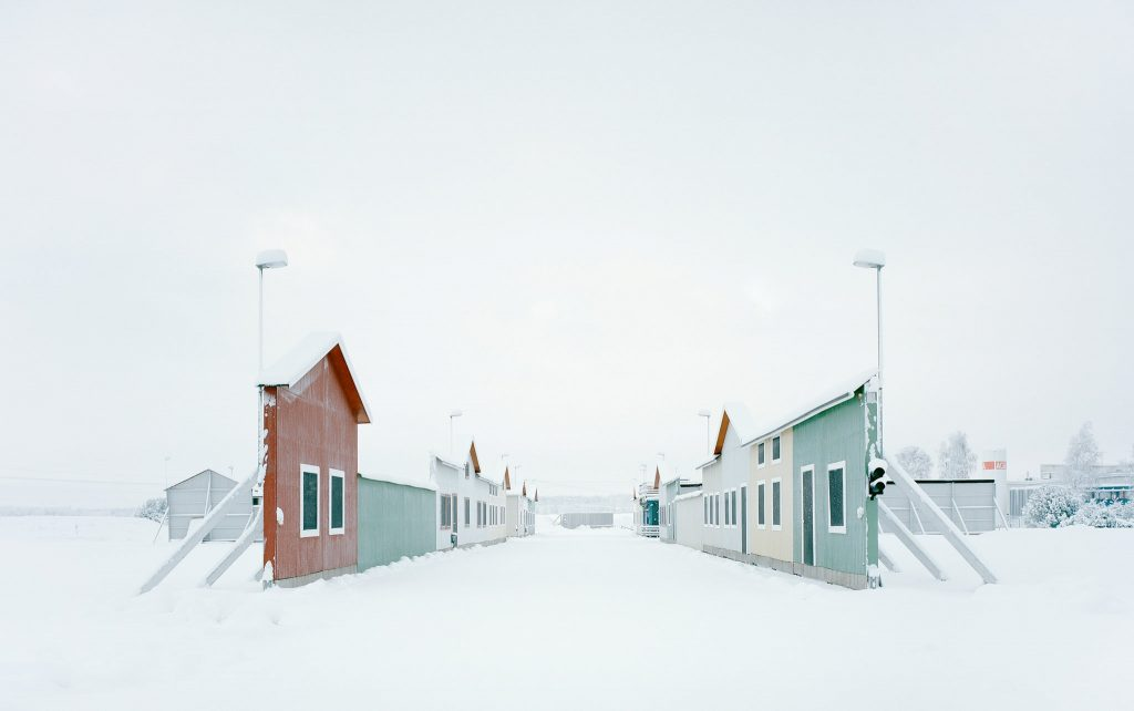 In a ghost town built in Sweden, houses are all façade, and the domestic space is defined by its absence. [Gregor Sailer, Carson City VI/Vårgårda, Sweden, 2016]