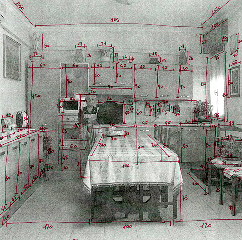 A grandma's kitchen, measured [Lara Agosti, title and date unknown]