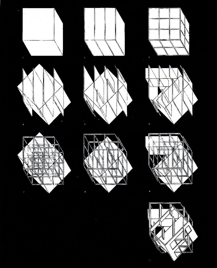 Eisenman Architects. 1971. Concept Drawing For House iii. Image.