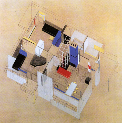 Rietveld, Gerrit. 1924. Schröder House Isometric Drawing. Image.